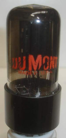 (Best RCA Single) 12SL7GT RCA branded Dumont coated glass round black plates 1940's (2.4/2.4ma) 1-2% section balance