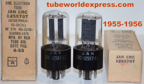 (sold) JAN-CRC-12SX7GT RCA NOS 1955-1956 (8.6/10.0ma and 8.6/10ma)
