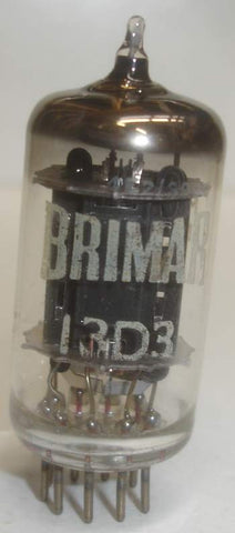 (!!) 13D3 Brimar UK black plates tests like new 1962 (6.8ma/7.2ma) tested on Amplitrex