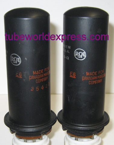 1619 RCA NOS 1956 made for Marconi Canada (1 pair: 53ma and 58ma) (matched on Amplitrex)