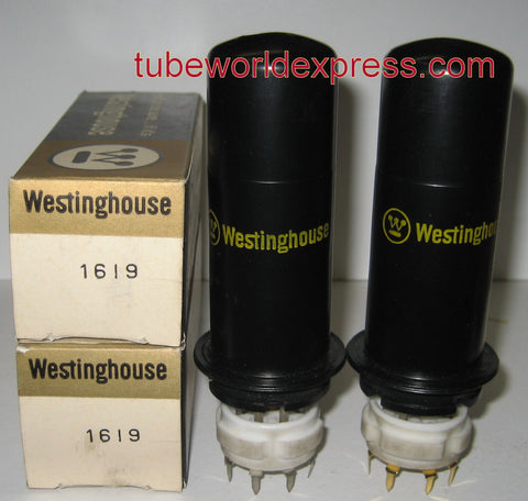 1619 RCA NOS 1958 made for Westinghouse Canada (1 pair: 54.5ma and 56ma) (matched on Amplitrex)