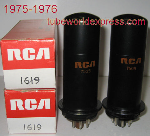 1619 RCA NOS 1975-1976 (1 pair: 49.5ma and 52ma)