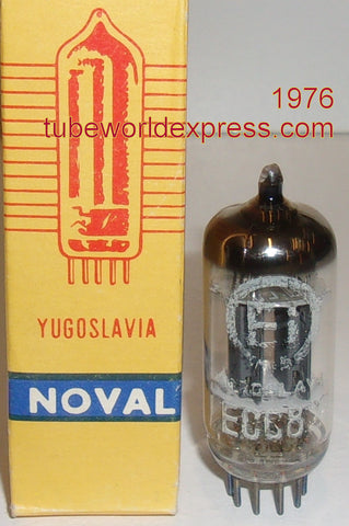 (!!!) (#1 12AU7 EI-Yugo Telefunken copy) 12AU7 EI Yugoslavia (Telefunken copy) smooth plates NOS 1976 (11.2/12.0ma) (High Ma and Gm)
