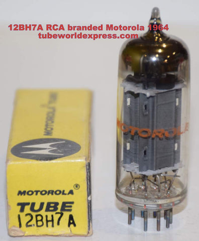 (!!!!!) (Recommended Single) 12BH7A RCA Motorola NOS 1964 (8.6/10.6ma)