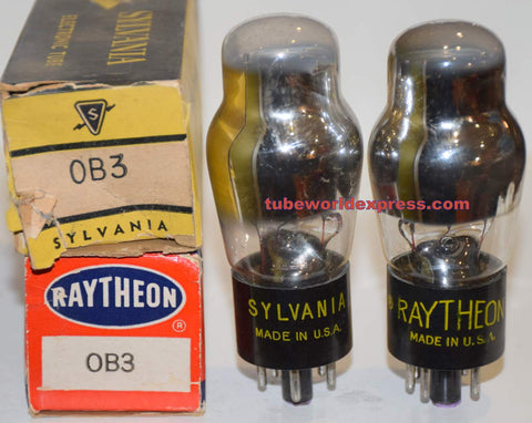 (!!) (Recommended Pair) 0B3 Sylvania NOS 1956 same build
