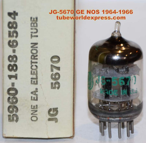(!!) (~ Recommended Single from 1964-1966 ~) JG-5670 GE NOS 1964-1966 (7.0/9.6ma)