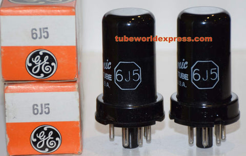 (!!) (~ 2nd Best Pair ~) 6J5 GE metal can NOS 1960's (8.0ma and 8.1ma)