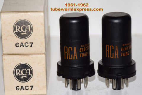(!!!!) (Best Pair) 6AC7 RCA NOS 1961-1962 (10.3ma and 10.6ma)