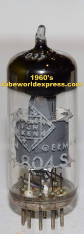 (!!) (Recommended Single) EF804S Telefunken Germany <> bottom NOS mid-1960's (3.0ma)