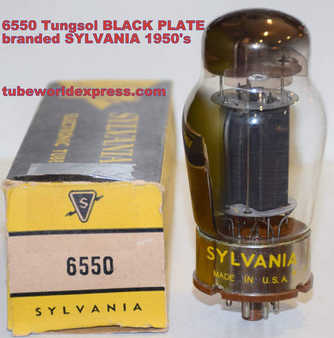 (!!!!!) (Best Overall Single) 6550 Tungsol black plate NOS branded Sylvania late 1950's (135ma) (Recommended for Audio Research power supply)