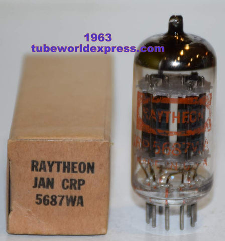 (!!) (Recommended Single) JRP-5687WA Raytheon mostly black/partially bronze plates NOS