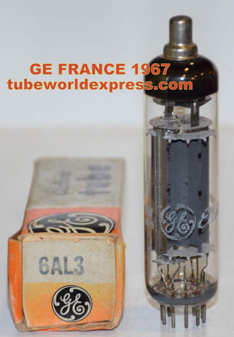 6AL3=EY88 GE France 1967 Half-Wave HV Rectifier NOS (1 in stock)