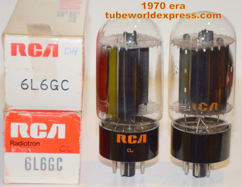 (!!!!!) (Recommended Pair) 6L6GC RCA Black Plate NOS 1970 era (72ma and 73ma)