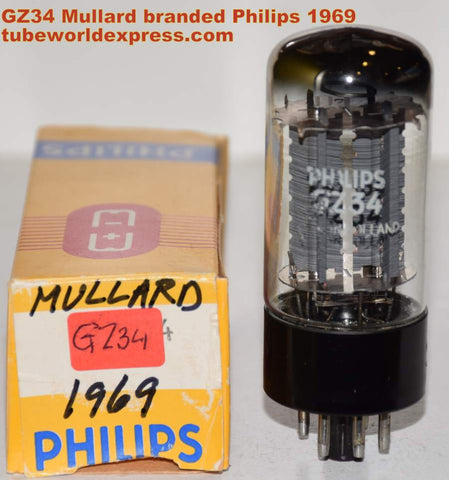 (!!!!!) (Recommended Single) GZ34 Mullard Blackburn UK rebranded Philips NOS 1969 (60/40 and 60/40) (Cary, Matchless, Marshall, Fender, Modwright)