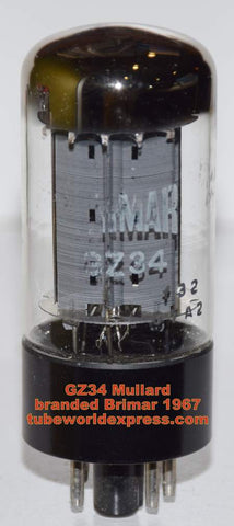 (!!!) (~ Recommended GZ34 from 1967) GZ34 Mullard branded Brimar NOS 1967 (58/40 and 58/40)