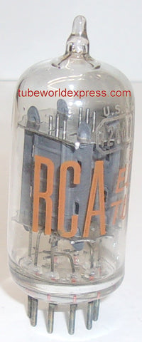 (!!) (#1B 12AU7A RCA SINGLE VALUE) 12AU7A RCA Bell and Howell clear top used/good 1960's (8.2/9.6ma)