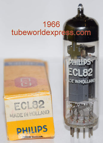 (!) ECL82=6BM8 Philips Holland made in Belgium NOS 1966 (2.0/31ma)