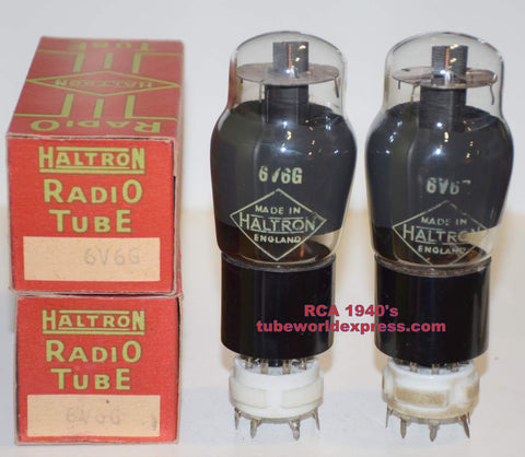 (!!!!) (Recommended RCA Pair) 6V6G RCA NOS rebranded Haltron England 1940's (40.5/41ma)