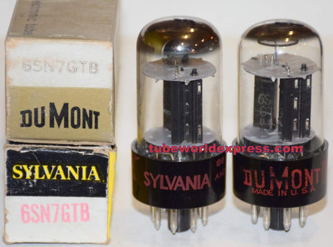 (!!!!!) (Best Overall Syvania Pair) 6SN7GTB Sylvania NOS 1960's (8.0/8.6ma and 7.8/8.4ma) (Schiit Freya, Rogue, Modwright OPPO)
