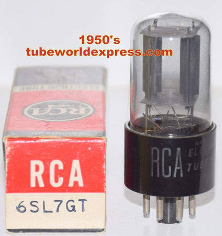 (!!!) (~ Best RCA Single ~) 6SL7GT RCA coated glass NOS 1950's (2.6/2.9ma)