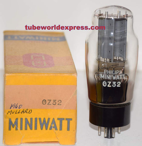 (!!!!) (Best Single) GZ32 Mullard branded Philips Miniwatt NOS