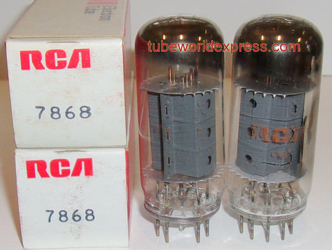 (!!) (#1 7868 RCA Pair 7868 RCA NOS (57ma and 59ma) (matched on Amplitrex)