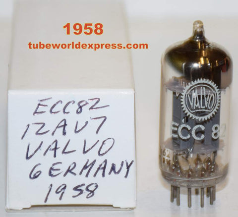 (!!!!!) (Best Long Plates Single) ECC82=12AU7 Valvo Hamburg Germany NOS with 17MM