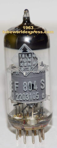 (!!!) (Best Overall Single) EF804S Telefunken Germany <> bottom NOS 1963 (3.2ma)