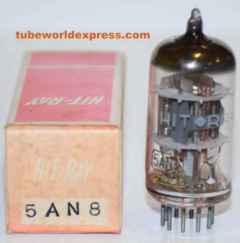 5AN8 Hit-Ray by Hitachi Japan NOS sub for 6AN8 (1 in stock)