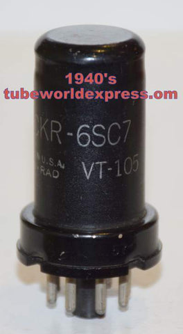 6SC7=VT-105 Ken Rad used/very good 1940's (2.1/2.4ma)