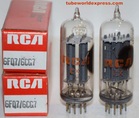 (!!!!) (Recommended Pair) 6FQ7 RCA clear top NOS  1970's (6.6/7.6ma and 6.6/7.2ma) (STAX, MARANTZ, CONRAD JOHNSON)