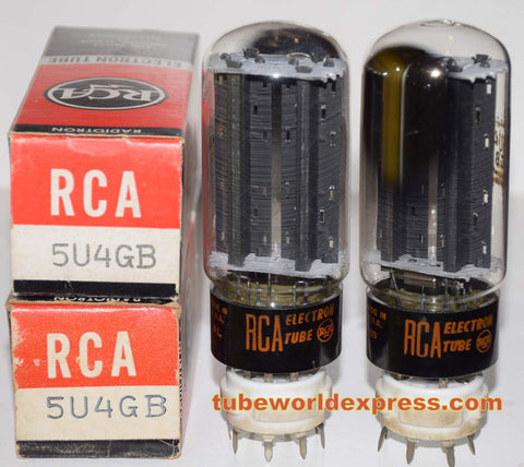 (!!!!) (2nd Best RCA Pair) 5U4GB RCA NOS 1960's (57-58/40 and 59-60/40)
