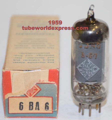 6BA6 Telefunken Germany no diamond NOS/80% 1959 (8.4ma)