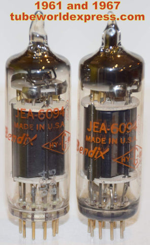 (!!!!) (~ Recommended Pair ~) JEA-6094 Bendix NOS 1961 and 1967 same build (54ma and 55.2ma)