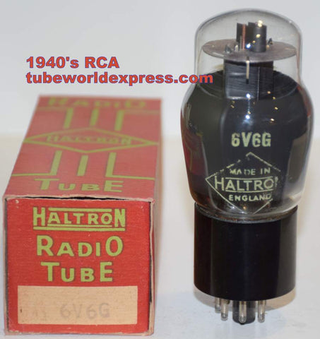(!!!!) (Best Value) 6V6G RCA branded Haltron coated glass NOS 1940's (42.5ma)