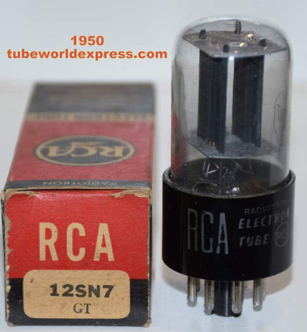 12SN7GT RCA coated glass NOS 1950 (7.6/8.6ma)