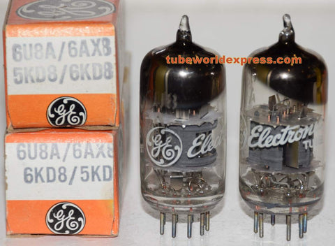 (!!!!) (Best Pair) 6U8A GE NOS 1960's
