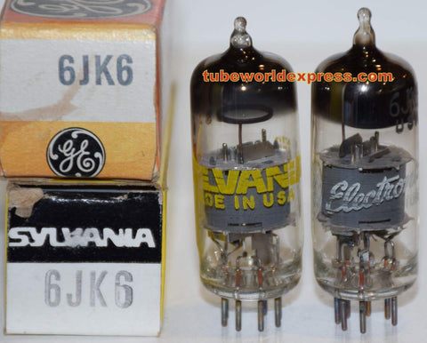 (!!!!) (Best Pair) 6JK6 Sylvania NOS 1960's (8ma and 8.5ma)