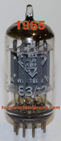 (!!!!) (Best Value Single) 12AX7=ECC83 Telefunken Germany <> bottom smooth plates NOS 1965 (0.9/1.4ma and Gm=1550/1900) (Manley, AKG)