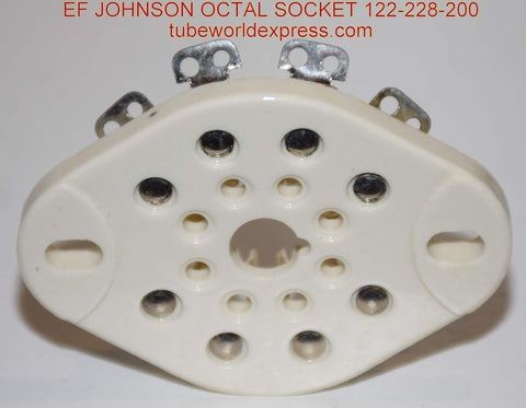 (!!!!) (Best 8 pin octal socket ever made) 8 pin EF-Johnson USA Ceramic Chassis Sockets NOS