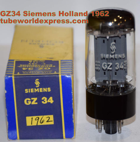 (!!!!) (Best Holland Single) GZ34=5AR4 Siemens Holland NOS (f33-L2H1=1962) Belgium plant (58/40 and 58/40)