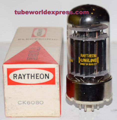 (!!!!) (Recommended Single) 6080WB Sylvania branded Raytheon NOS 1970 era slightly tilted glass (92/93ma)