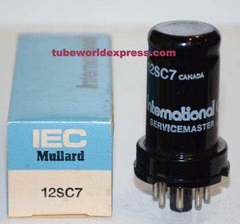 12SC7 International Canada NOS, probably made by GE (2.3/2.8ma)