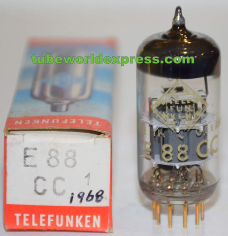 (!!!!!) (Recommended Single) E88CC=6922 Telefunken Germany <> bottom NOS 1968 (16.0/17.6ma)