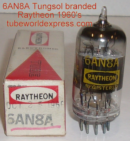 (!) 6AN8A Tungsol rebranded Raytheon NOS 1960's