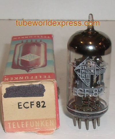 (!) (#1 6U8 Best Value) ECF82=6U8 Telefunken <> bottom NOS 1960's (Pentode 65% and Triode 100%)