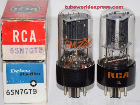 (!!!) (Recommended Pair) 6SN7GTB RCA NOS 1960's - 1970 (9/10ma and 9.6/10.6ma)
