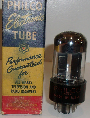 12SN7GT Philco by Sylvania chrome top NOS 1956 (8.5/9.0ma) (high Ma and Gm)