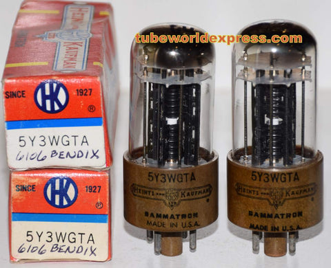 (!!!) (Best Value Pair) 6106 Bendix 1950's rebranded 5Y3WGTA Heintz & Kaufman NOS (61-65/40 and 60-65/40)