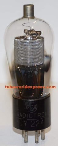 UY-224 RCA Balloon used/tests like new 1930's rattle inside base (50/25) (4.2ma Gm=1000)